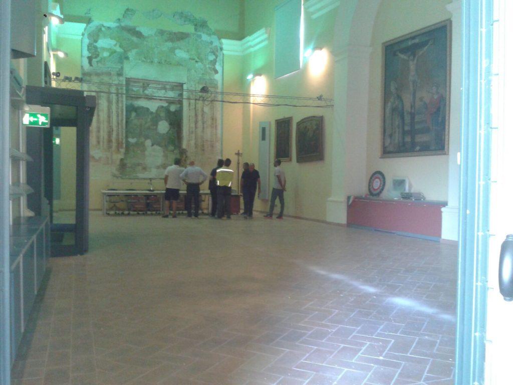 Il sindaco Altini impegnato nei sopralluoghi a Falerone