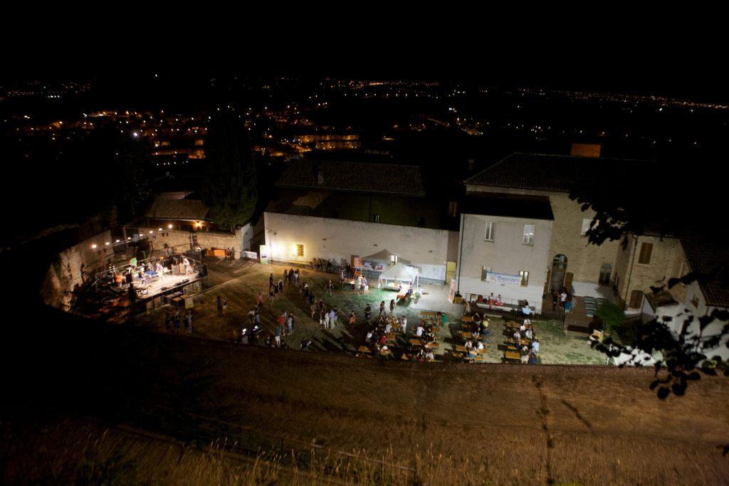 cortile don ricci dall'alto Fermo teatro romano