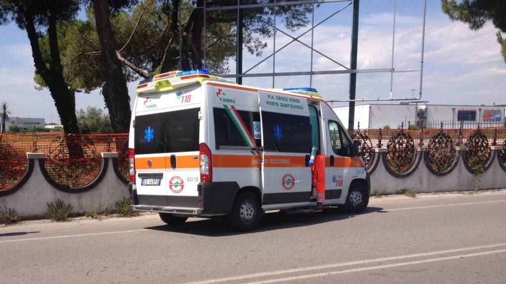 incidente Porto Sant'Elpidio croce verde