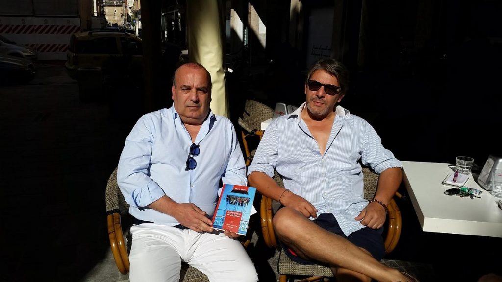 a destra l'autore, Alberto Nicolai