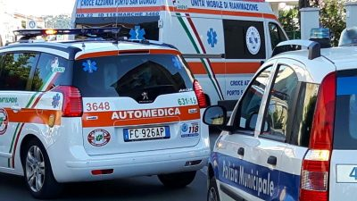 ambulanza e polizia municipale