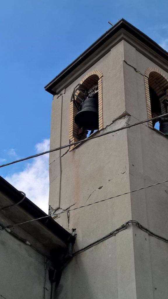 verducci terremoto campanile pericolante