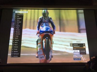 La vittoria del GP San Marino, dal video proiettato all'auditorium