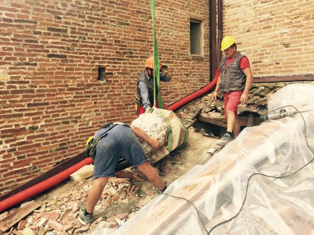 Campanile Amandola terremoto lavori 2