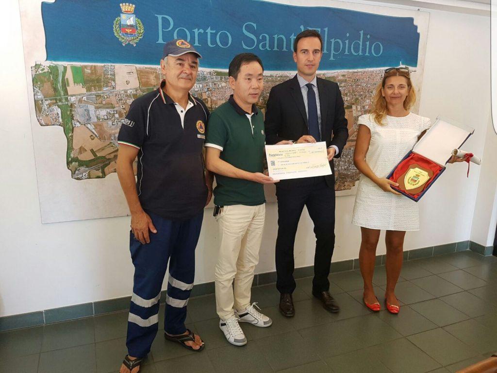 Donazione Cinesi Terremoto Porto Sant'Elpidio