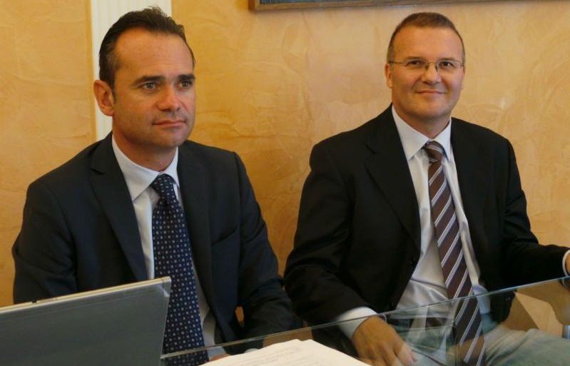 Da sin. il sindaco Nicola Loira e Maurizio Iezzi della Sge