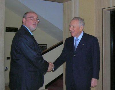 Luciano Scafà con Carlo Azeglio Ciampi