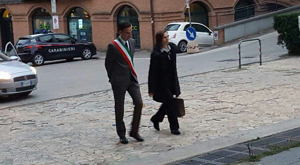 Il prefetto di Fermo Mara Di Lullo e il sindaco di Porto Sant'Elpidio, Nazareno Franchellucci