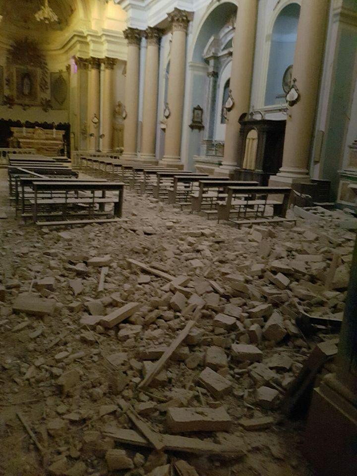L'interno della chiesa di Sant'Agostino, a SAnta Vittoria in Matenano
