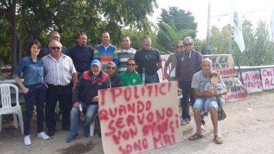 protesta operai verde mare