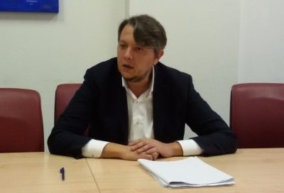 Il presidente della Provincia, Aronne Perugini