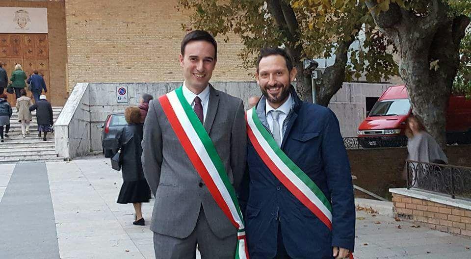 I sindaci Nazareno Franchellucci e Alessio Terrenzi