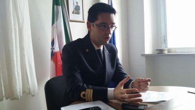 Il comandante del Circomare, Fabrizio Strusi