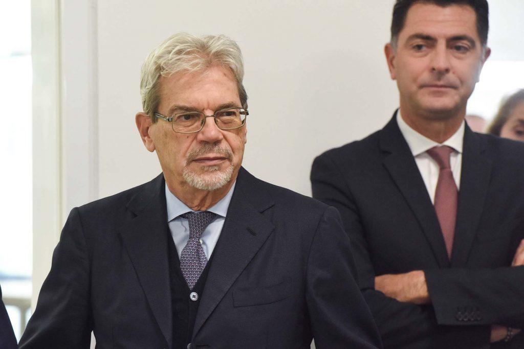 Il sottosegretario De Vicenti con Mario Andrenacci