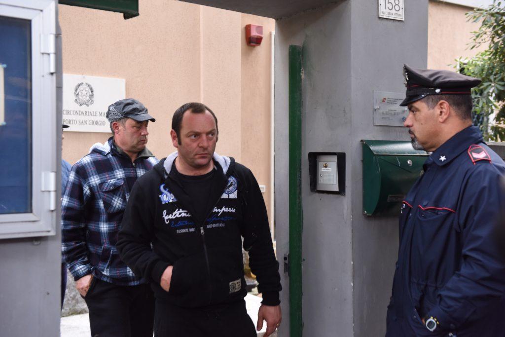 Il presidente nazionale delle marinerie d'Italia, Francesco Calderoni, all'uscita dalla sede del Circomare