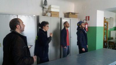 Il sopralluogo nelle scuole del sindaco di Fermo Paolo Calcinaro