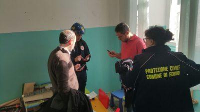Il sindaco Paolo Calcinaro alla scuola Betti