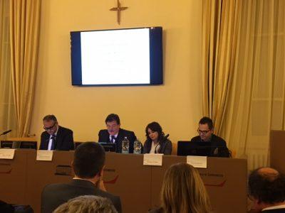 Da destra: Andrea Santori, Gabriele Magrini Alunno, Eleonora Cutrini, Enrico Paniccià