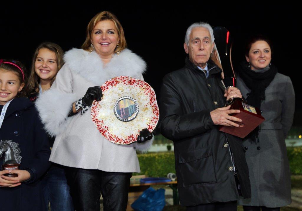 Alessia Mattii, presidente dell'Ippodromo San Paolo e il sindaco di Montegiorgio Armando Benedetti