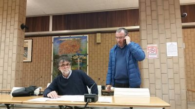 L'assessore Talamonti con il funzionario comunale Stefano Sisi