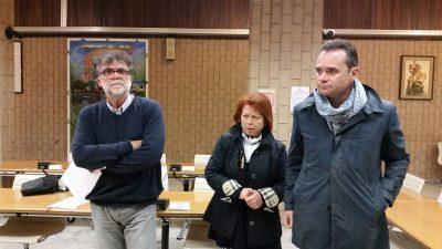 Il sindaco Nicola Loira (dx) con l'assessore Talamonti e la dirigente Francesca Claretti