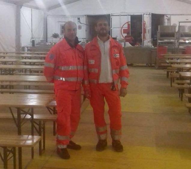 Volontari della Croce gialla a Camerino