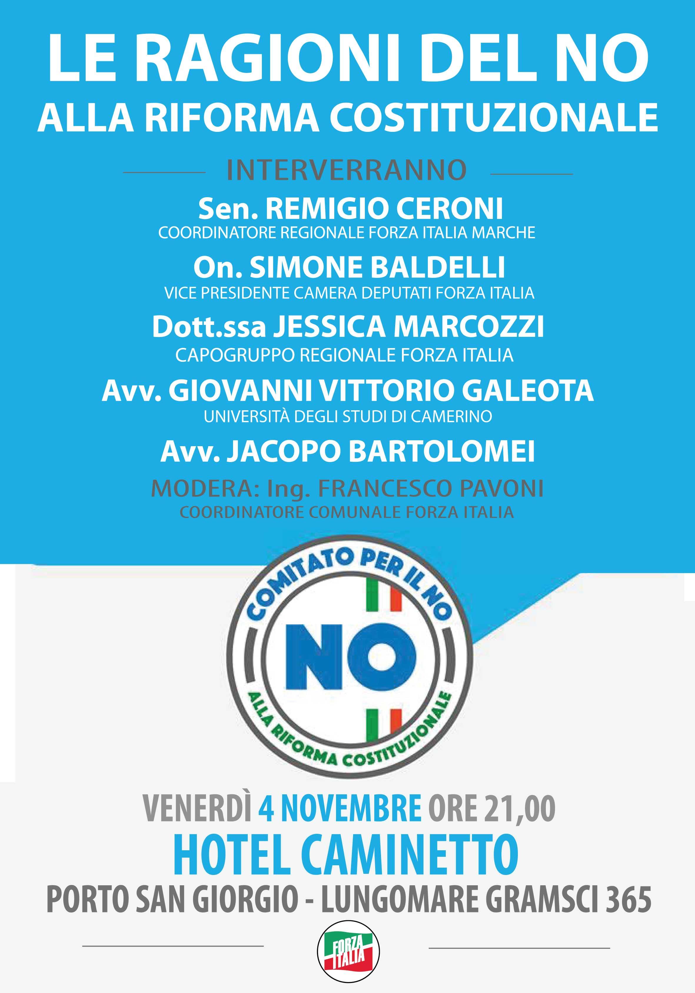 No alla riforma costituzionale nuovo appuntamento for Forza italia deputati