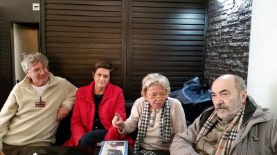 Alcuni esponenti del comitato per la salvaguardia del viale Cavallotti