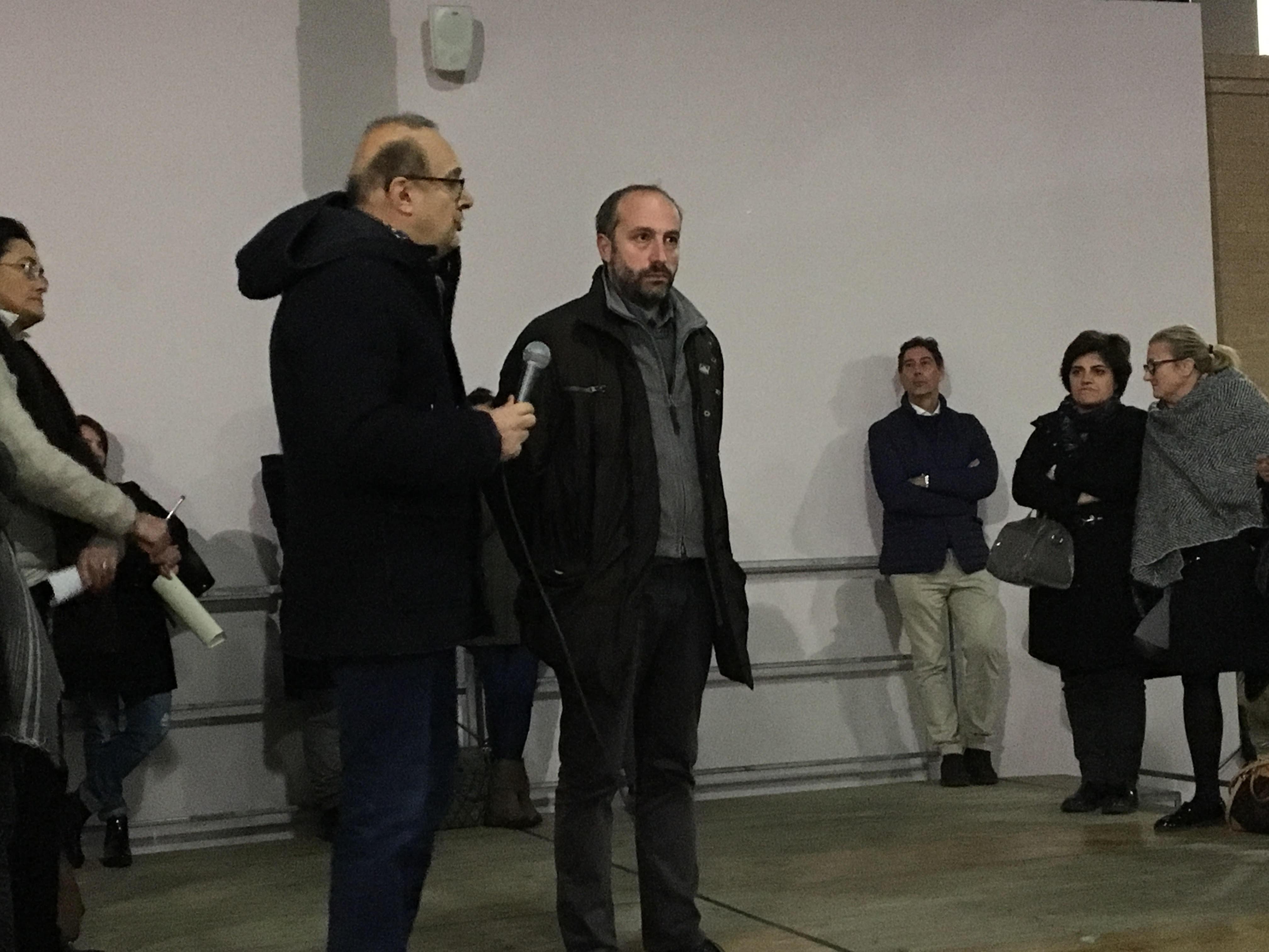 Il sindaco di Fermo Paolo Calcinaro e il dott. Cesare Marziali, giudice del tribunale di Fermo