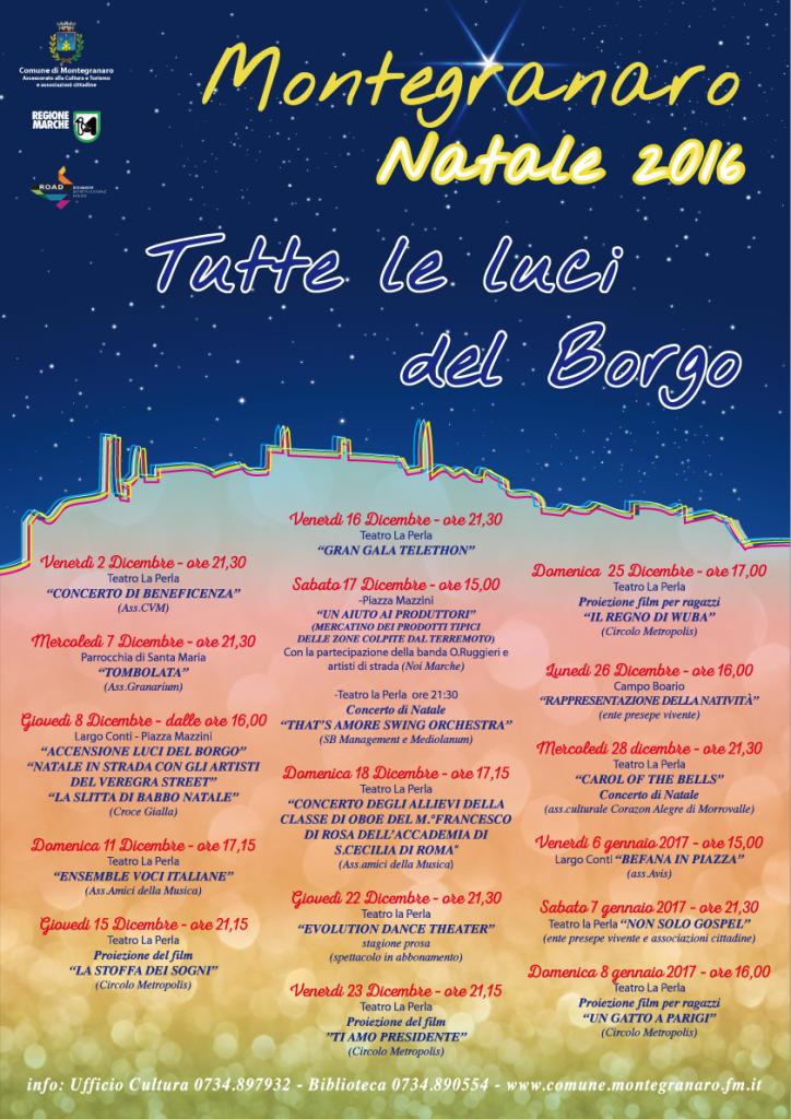 programma natale 2016 montegranaro