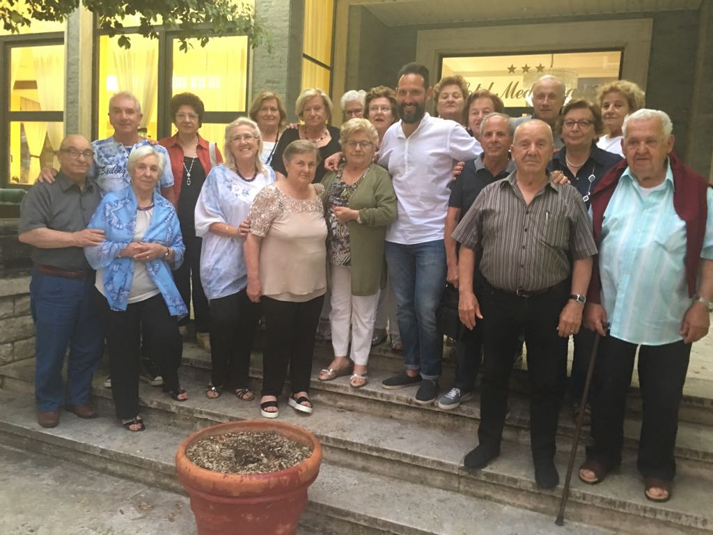 Il sindaco in visita agli ospiti dei soggiorni termali: \